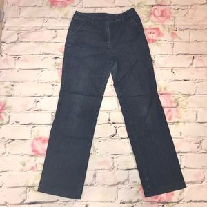 Talbots Trousers Wide Leg Jeans Size 8
